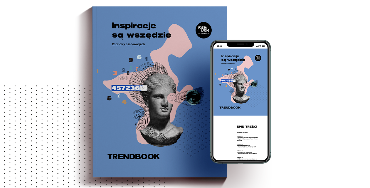 grafika przedstawiająca okładkę trendbooka, kolaż